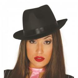 Sombrero gangster negro alta calidad 13390