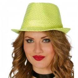 Sombrero lentejuelas amarillo 13372