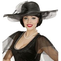 Sombrero viuda alegre negro pamela