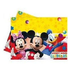 MANTEL MICKEY MOUSE PLAYFUL PLASTICO 180 X 120 CM