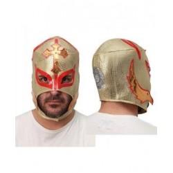 Mascara luchador dorada 2102