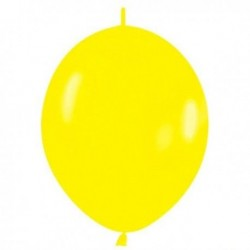 GLOBO AMARILLO FASHION SOLIDO CADENA LOL 25 UDS SE