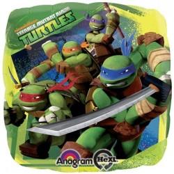 Globo tortugas ninja cuadrado 18 45 cm