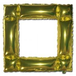 Globo marco o cuadro oro foil helio 48x48 cm