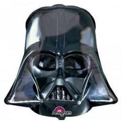 GLOBO DARTH VADER CASCO NEGRO 63X63 CM STAR WARS
