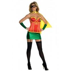 Disfraz robin corset talla m mujer adulto