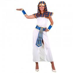 DISFRAZ FARAONA BLANCO MUJER EGIPCIA TALLA M L