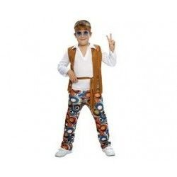 Disfraz hippie niño 7-9 años infantil años 60