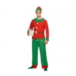 Disfraz elfo ayudante de santa claus talla l