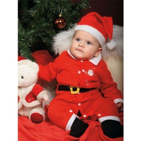 Disfraz Barato Papa Noel Bebe 1 12 Meses Navidad Disfraces Baratos - Disfraces-papa-noel-bebe
