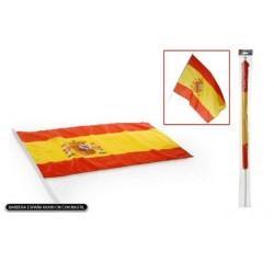 BANDERA ESPANA PALO GRANDE CON MASTIL 60 X 90 CM