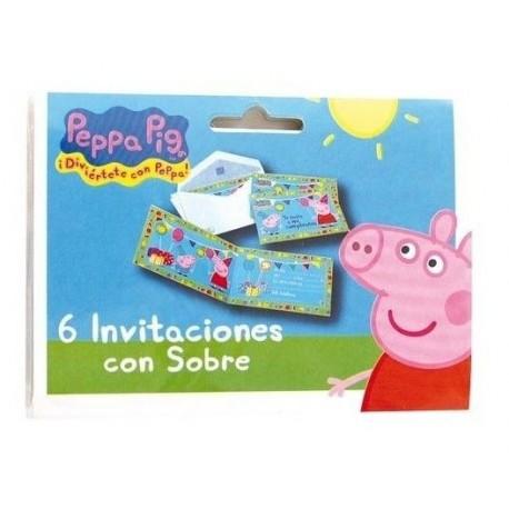 Invitaciones Cumpleanos Peppa Pig 6 Unidades Tusdisfracesbaratos Com