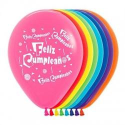 Globos feliz cumpleaños 10 und 30 cm 12