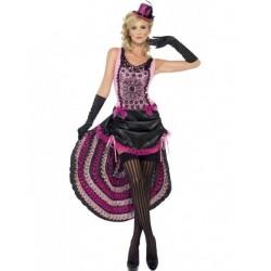 Disfraz burlesque can can saloon talla s mujer