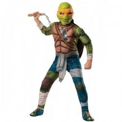 Disfraz michelangelo musculoso 8-10 años tortugas