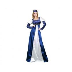 Disfraz princesa azul y blanco adulta talla m-l mu