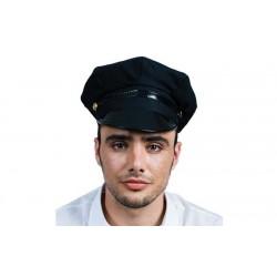 GORRA POLICIA SADO TAXISTA NEGRA LISA ADULTO