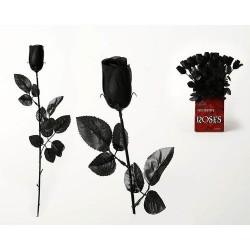 Rosas negras 53 cm decoracion siniestra halloween