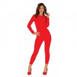 Malla roja para chica talla unica spandex maillot