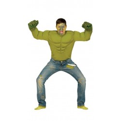 Disfraz camisa musculosa verde talla l hulk