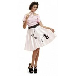 Disfraz pink lady perrito talla m-l mujer años 50