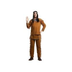Disfraz indio marron talla m-l hombre