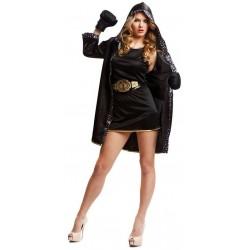 Disfraz boxeadora negro talla ml mujer ali