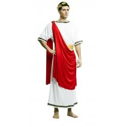 Disfraz cesar blanco capa roja romano talla m-l