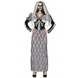 Disfraz novia esqueleto fantasma mujer talla l