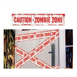 Cinta caution zombie 6 metros x 12 cm ensangrentad