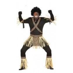 Disfraz zulu talla l hombre 52-54 africano tribal