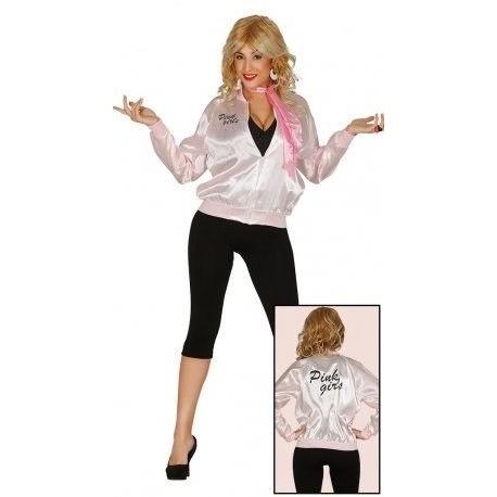 Chaqueta rosa años pink ladies para adulto barato. Tienda de ... bddf49ab668a0