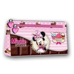 Estuche minnie mouse chocolate 22x11.5x4 cm