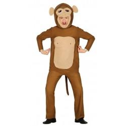 Disfraz mono macaco talla l 52-54 simio jugueton