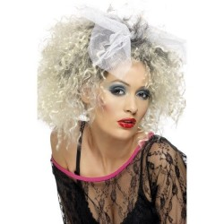 Peluca mujer años 80 cantante rizos similar a madona