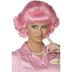 Peluca freche grease rosa años 60