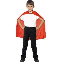 CAPA ROJA INFANTIL DE SUPERHEROE IMITACION SUPERMA