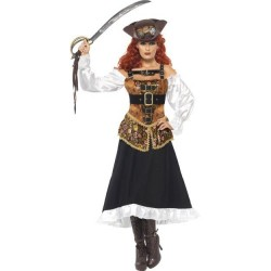 Disfraz pirata steam punk talla s mujer