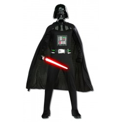 Disfraz darth vader adulto con espada talla estand