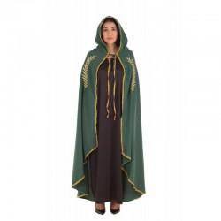 Capa mariana verde con bordado en oro talla l adul