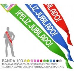 BANDA FELIZ JUBILADO 100 MM ANCHO