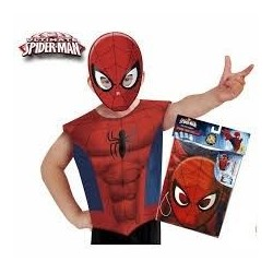 CAMISETA CON MASCARA SPIDERMAN TALLA 3 A 6 ANOS