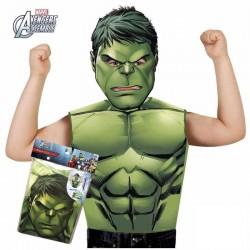 Camiseta con mascara hulk talla 3 a 6 años