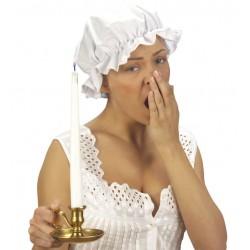 Sombrero abuleita blanco caperucita dormir cofia