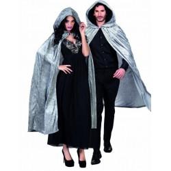 Capa con capucha gris 170 cm