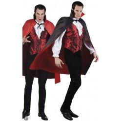 Capa vampiro reversible 120 cm roja negra