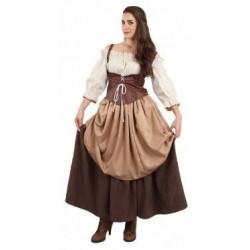 Disfraz hortelana medieval doncella talla 42
