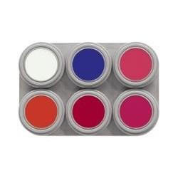 Paleta maquillaje fluorescente grimas 6 colores