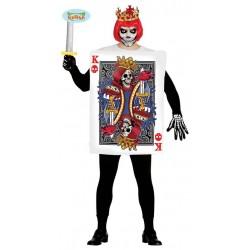 Disfraz carta de poker rey de calaveras adulto