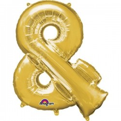Globo letra 38 color oro 96 cm helio o aire